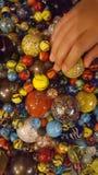 Een childs marmeren inzameling Stock Afbeeldingen