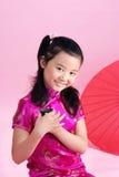 Een Chinees meisje stock afbeeldingen