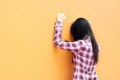 Een Chinees meisje dat zeer droevig is Stock Afbeeldingen