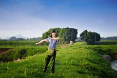 Een Chinees meisje in eenvormig Stock Foto
