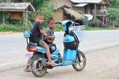 Een Chinese elektrische fiets Stock Fotografie