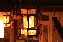 Een Chinese traditionele lamp Stock Afbeelding