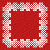 Een Chinese vectorillustratie van het knoopkader Royalty-vrije Stock Foto