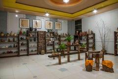 Een Chongqing Rongchang-van het het aardewerkmuseum van de aardewerkstudio steekproef van Rongchang Tao Stock Afbeeldingen