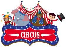 Een Circusbanner op Witte Achtergrond vector illustratie