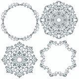 Een cirkel getrokken patroon van hand wervelt vector illustratie