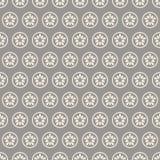 Een cirkel met een grijze bloem Stock Afbeelding