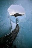 Een cirkel op de gletsjer op IJsland Royalty-vrije Stock Afbeelding