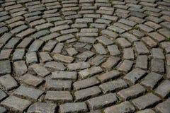 Een cirkel van steenbakstenen royalty-vrije stock afbeelding
