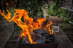 Een close-up in een mettalic grill royalty-vrije stock foto's