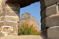 Een close-up van de Grote Muur Stock Foto's