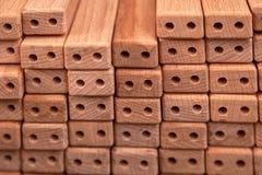 Een close-up van dezelfde houten bars stock afbeelding