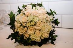 Een close-up van een bridebuqet Stock Afbeeldingen