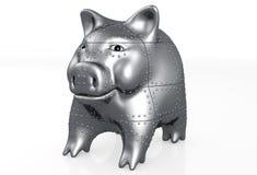 Piggy het varken is gepantserd Stock Fotografie