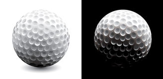 Een close-up van een golfbal Stock Fotografie