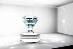 Grote diamant in een brandkast Royalty-vrije Stock Foto