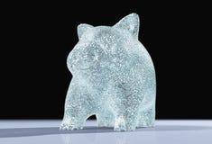 Een verlicht varkens piggy hoogtepunt van diamanten Stock Fotografie