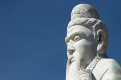 Standbeeld van Confucius (close-up) Stock Afbeeldingen
