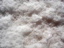 Een close-up van natuurlijke zoute stortingen Royalty-vrije Stock Afbeelding