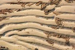 Een close-up van patronen in het zand royalty-vrije stock afbeelding