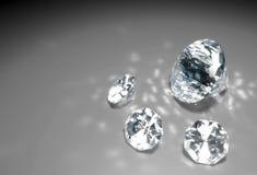 Vier diamanten op de vloer Stock Foto's