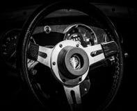 Een close-up van een uitstekend stuurwiel stock foto