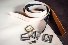 Een close-up witte riem stock foto's