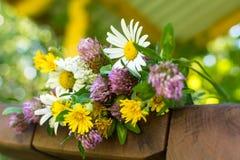 Een close-upboeket van wildflowers Stock Afbeelding