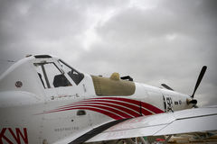 Een Close-upmening van het Vliegtuig van het Gewassenstofdoek Stock Foto
