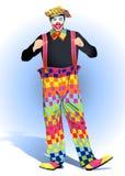 Een clown is in een GLB Royalty-vrije Stock Afbeelding