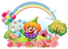 Een clown in een pretpark Royalty-vrije Stock Foto's