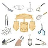 Een collage van keukengereedschap Royalty-vrije Stock Afbeelding