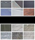 Een collage van vele beelden met fragmenten van diverse types van ro royalty-vrije illustratie