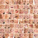 Een collage van verschillende vrouwelijke glimlachen Royalty-vrije Stock Foto's