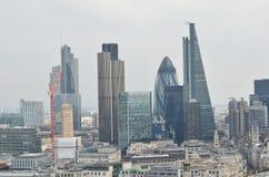 Een Commercieel Centrum van Londen stock afbeeldingen