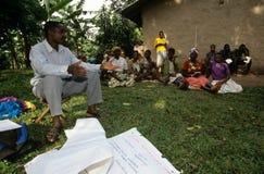 Een communautair empowerment project, Oeganda. Stock Foto's