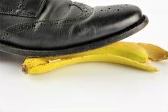 Een conceptenbeeld van een banaanschil - ongeval, gevaar, komedie royalty-vrije stock afbeelding