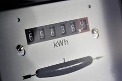 Een conceptenbeeld van een elektriciteitsteller - Energie stock foto's