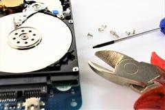 Een conceptenbeeld van harde aandrijving, reparatie - schijf Royalty-vrije Stock Fotografie