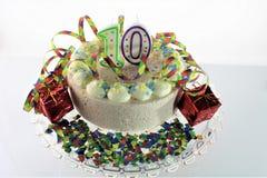 Een conceptenbeeld van een verjaardagscake - verjaardag 10 Royalty-vrije Stock Fotografie
