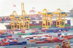 Een container eindhaven royalty-vrije stock afbeelding