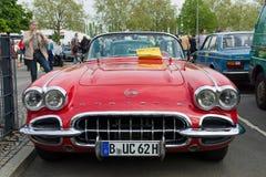 Een Convertibel Korvet van sportwagenchevrolet (1958) Royalty-vrije Stock Foto's