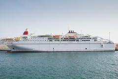 Een cruiseschip Stock Afbeelding