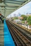 Een CTA-Post in Chicago stock fotografie