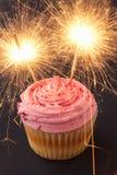 Een cupcake met sterretjes Stock Fotografie