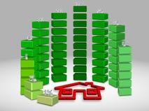 Rentevoetendruk Stock Afbeeldingen