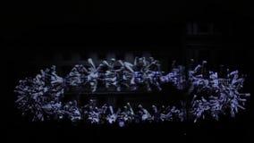 Een 3D videomappaing die installatie Mutis door Tigrelab bij het historische het Signaal lichte festival Praag wordt ontworpen 20 stock video