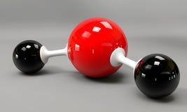 Een 3d watermolecule op een grijze achtergrond Royalty-vrije Stock Afbeeldingen