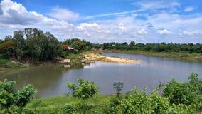 Een dag op de rivier stock foto