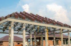 Een dak in aanbouw royalty-vrije stock foto's